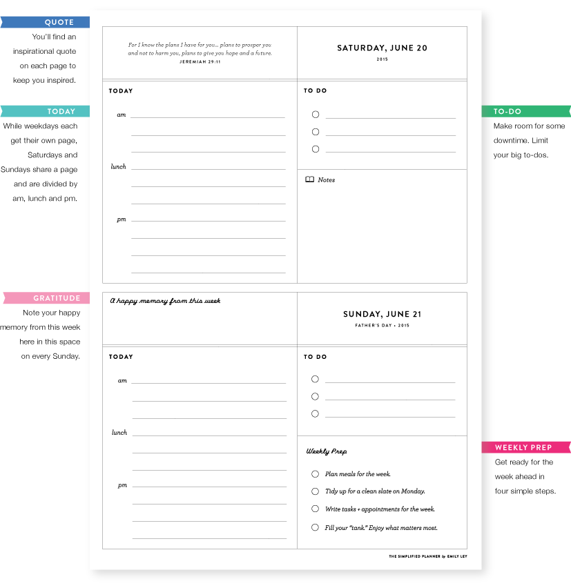 image relating to Emily Ley Printables named The 2015 Simplified Planner by means of Emily Ley - Paper Luxe