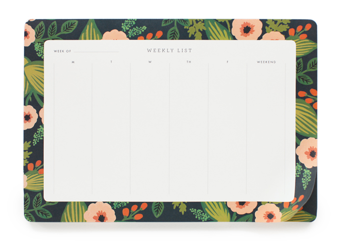 Jardin Weekly Desk Pad Rifle Paper Co.