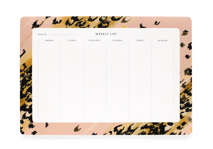 Leopard Weekly Desk Pad Rifle Paper Co.