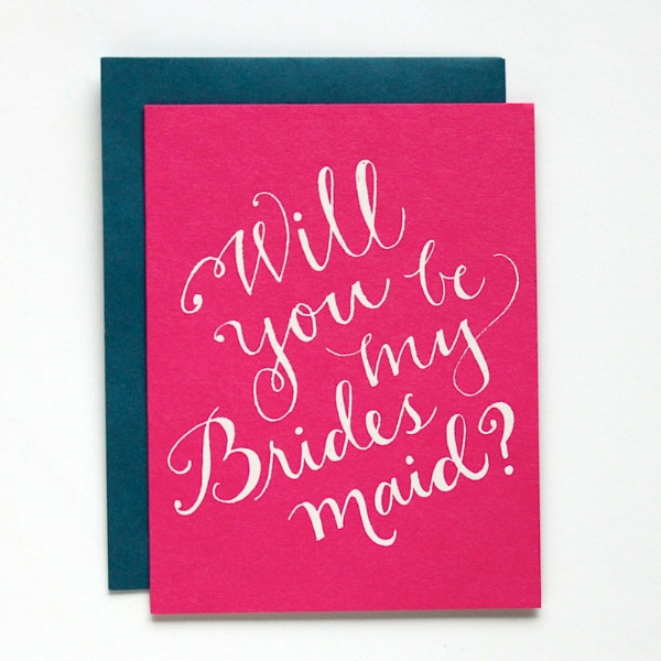 9th letterpress will you be my bridesmaid