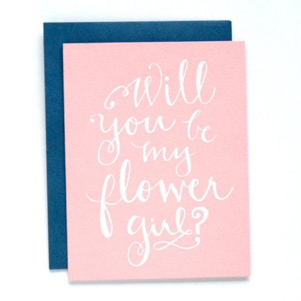 9th letterpress will you be my flower girl card