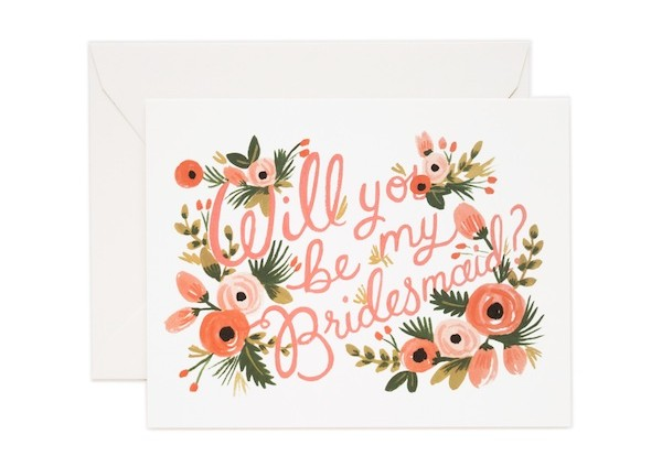 Rifle Paper Co Will you be my bridesmaid card