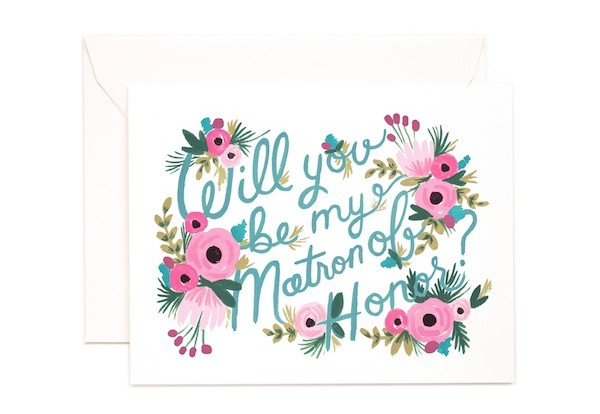 Rifle Paper Co Will you be my matron of honor card