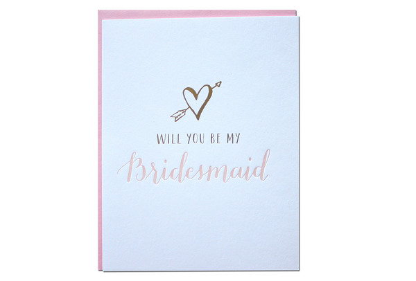 will you be my bridesmaids card