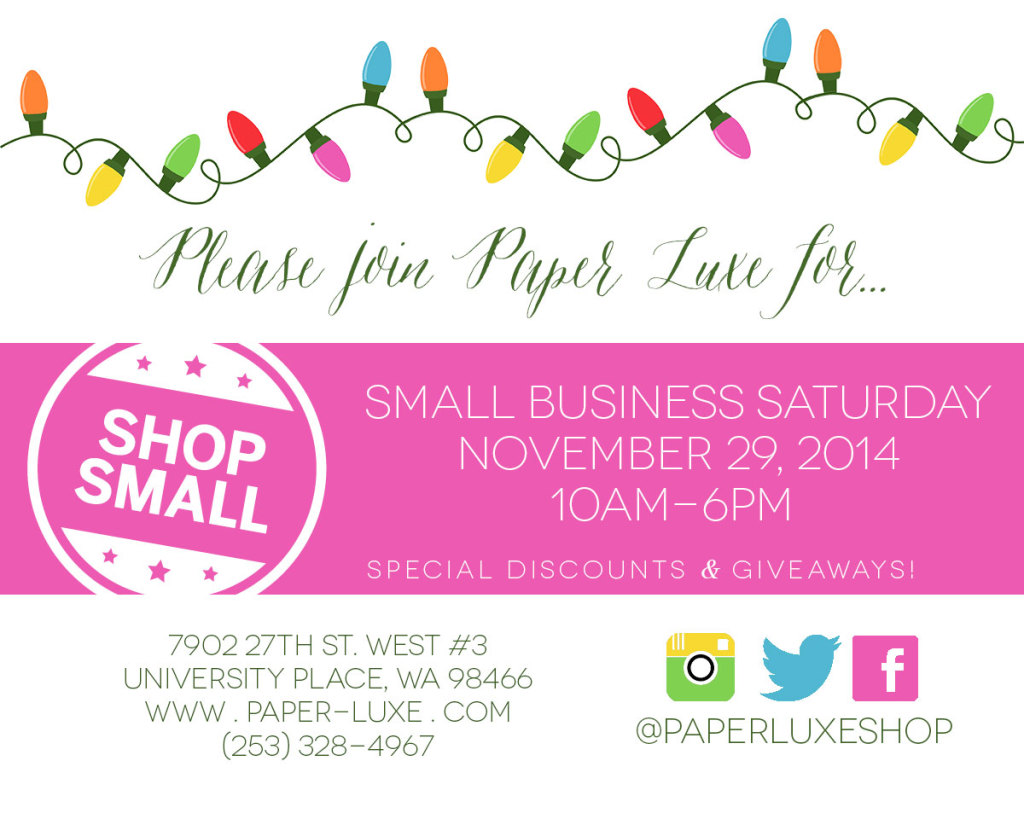 Small Business Saturday University Place Tacoma
