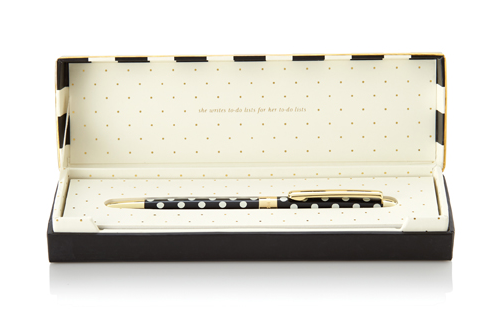kate spade new york ballpoint pen black dots