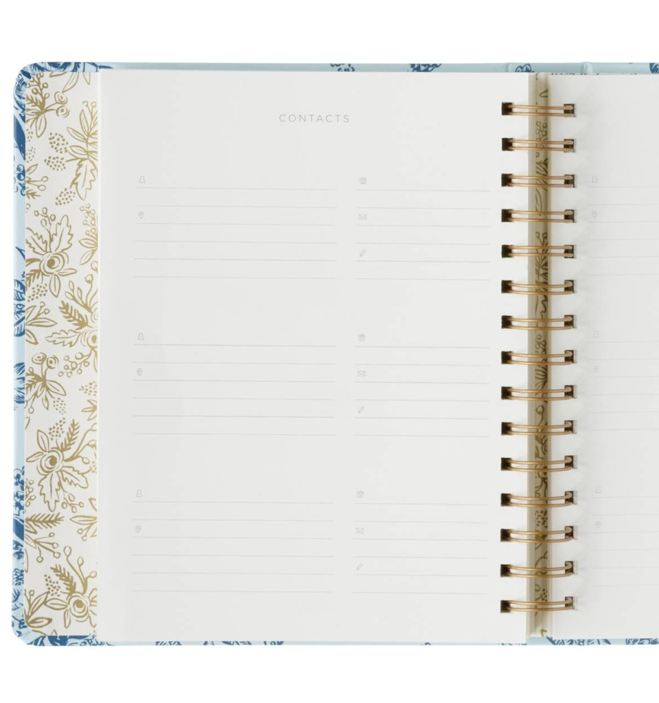 rifle paper co 2016 planner contacts