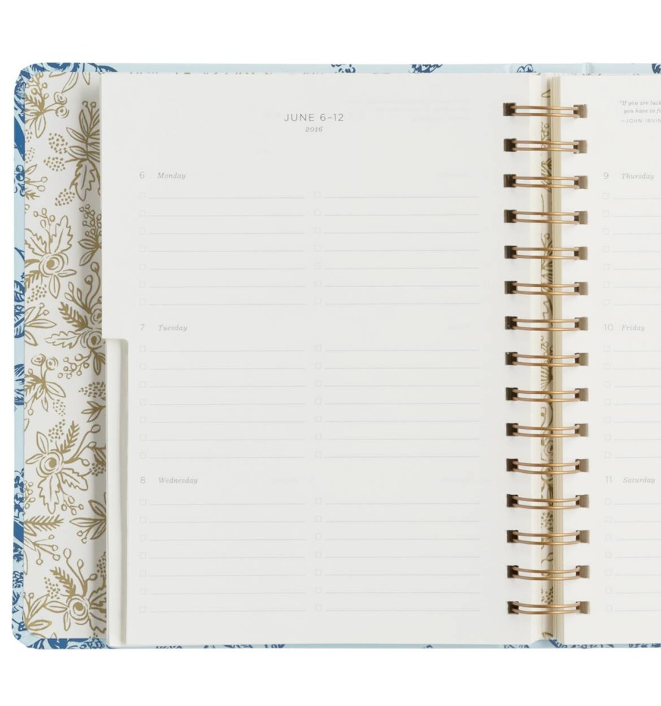 rifle paper co planner weekly view