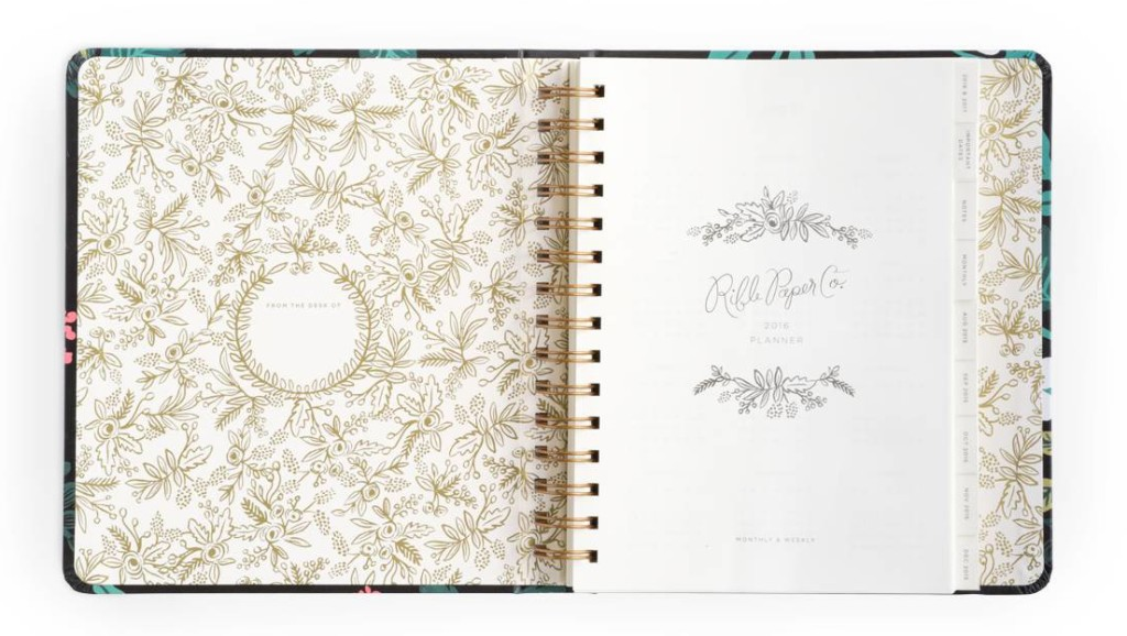 rifle paper co 2016 planner inside birch
