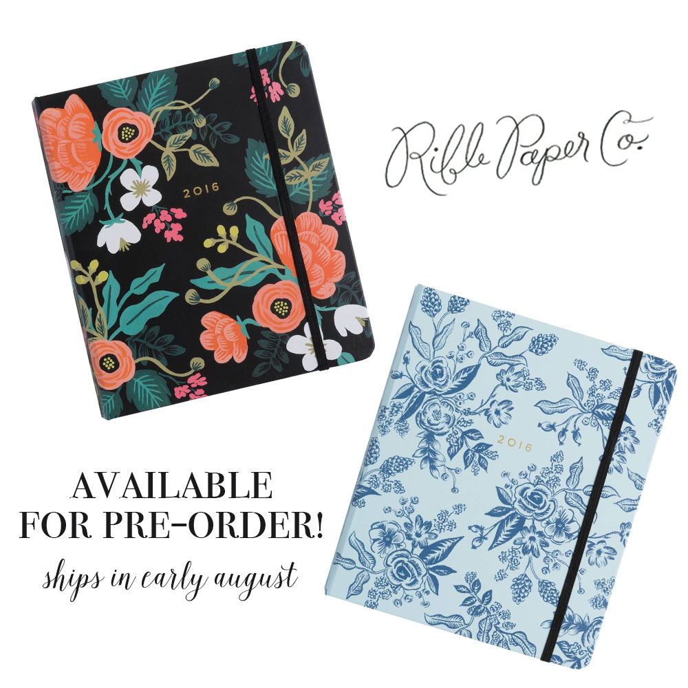 Rifle Paper Co 2016 Planners