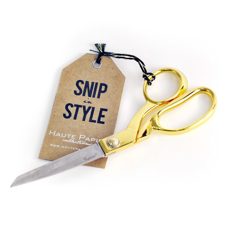 Gold Scissors Haute Papier