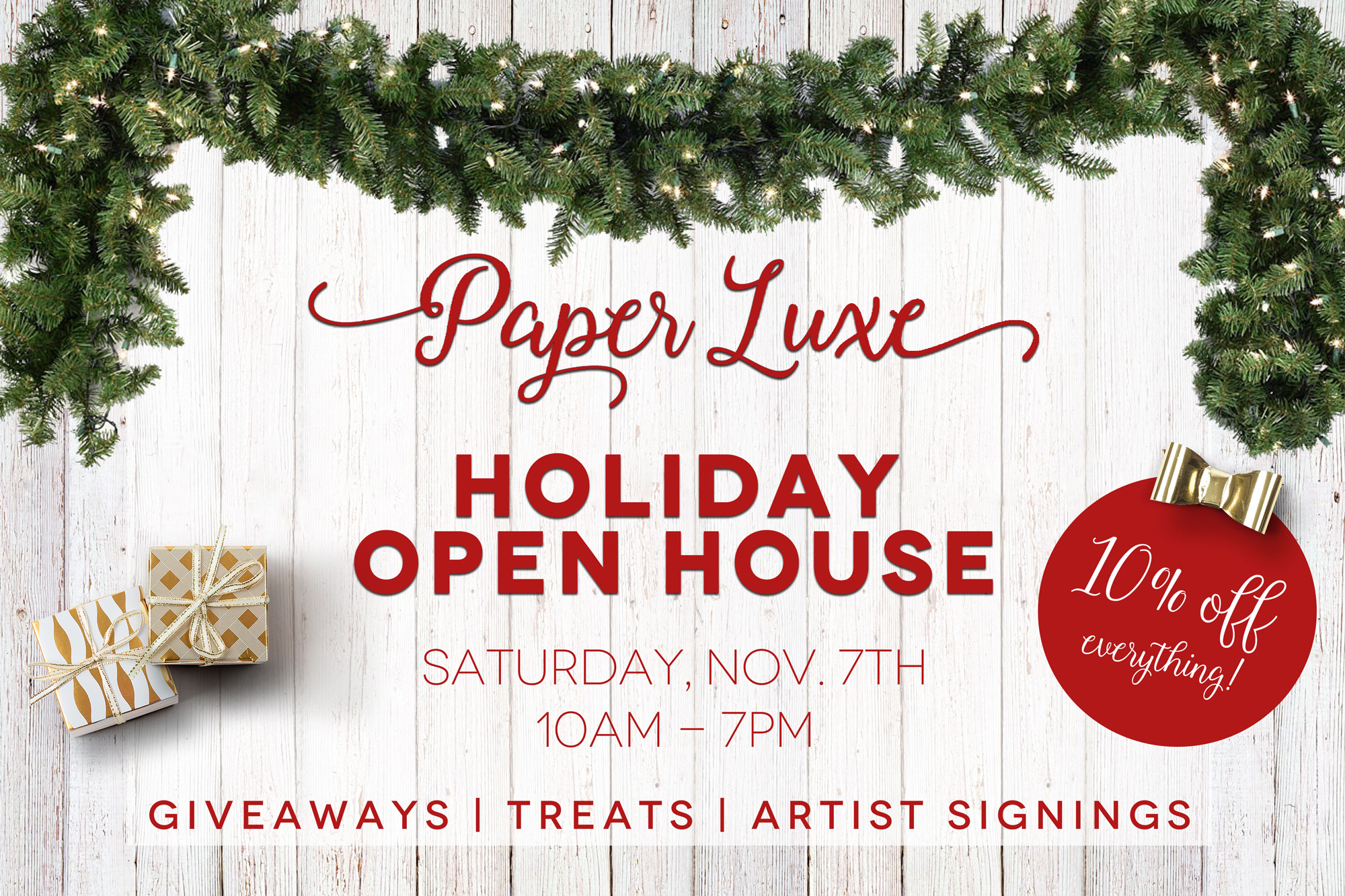Paper Luxe Holiday Open House Paper Luxe Stationery Gifts