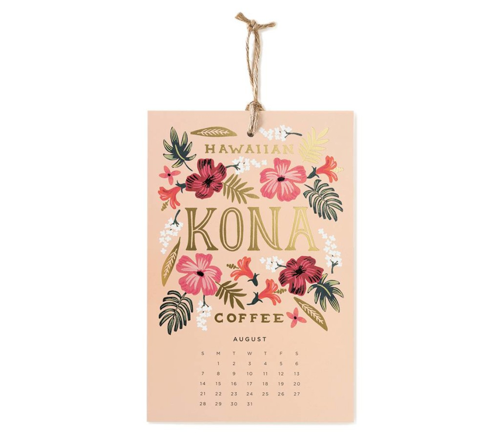 2016 Coffee and Tea Calendar by Rifle Paper Co.
