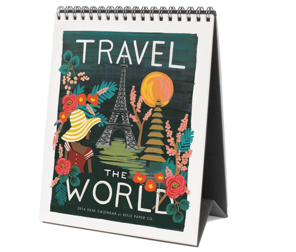 2016 Travel the World Calendar by Rifle Paper Co.