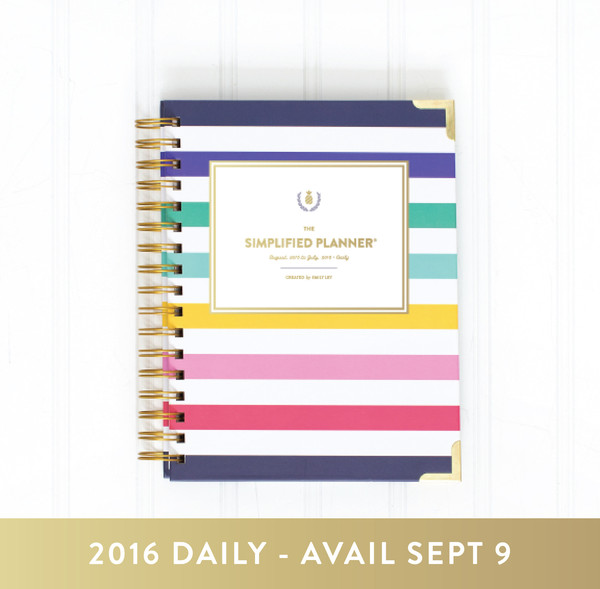 2016 Simplified Planner Happy Stripes Emily Ley