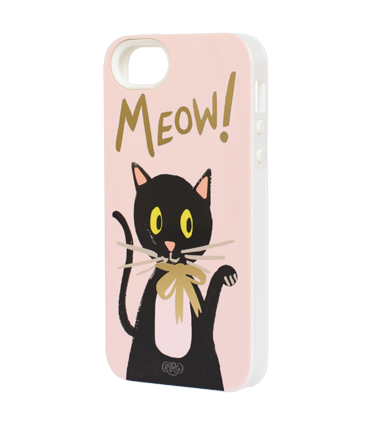 Meow iphone 5 case - inlay