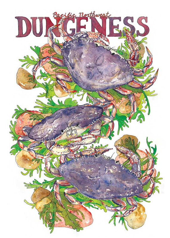 Dungeness Crab Print Marcella Kriebel