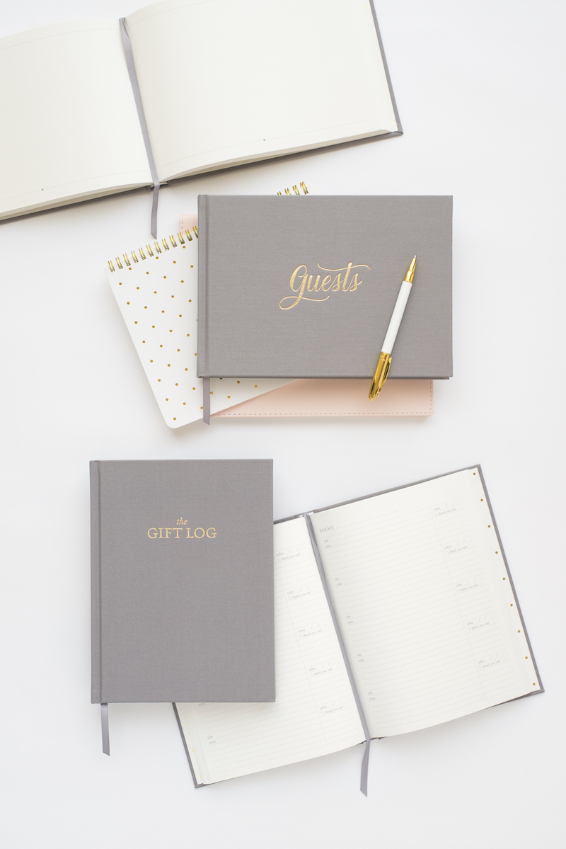 Sugar Paper Guest Book Gift Log