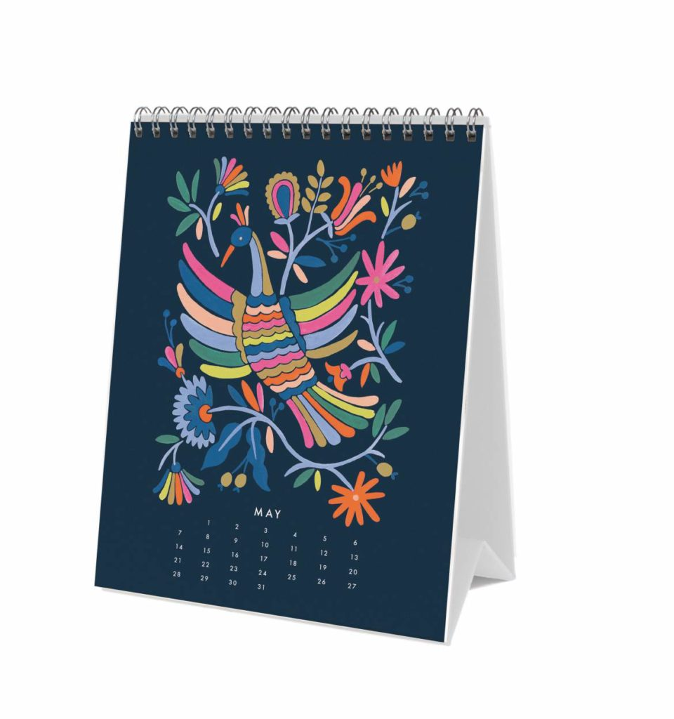 Rifle Paper Co 2017 Folk Desk Calendar