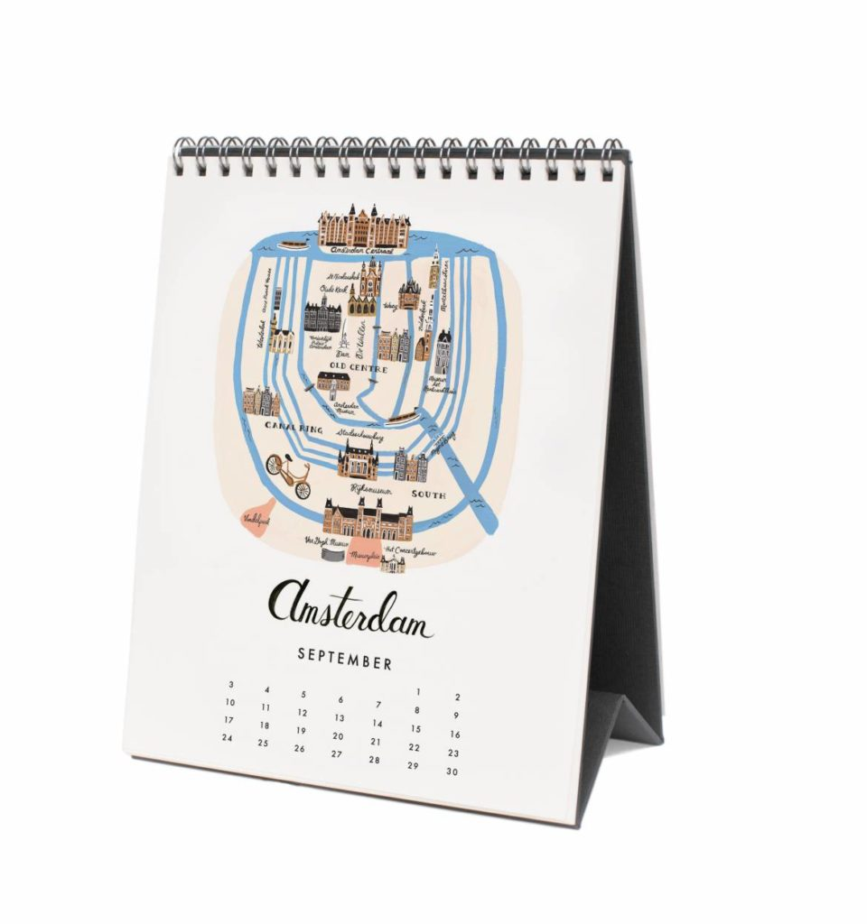 Agendas and calendars archives paper luxe stationery gifts rifle paper co 2017 maps desk calendar gumiabroncs Gallery