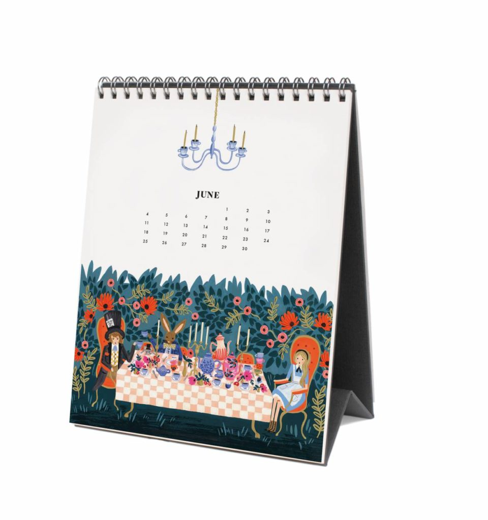 Rifle Paper Co 2017 Alice In Wonderland Desk Calendar