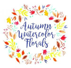 Autumn Watercolor Florals