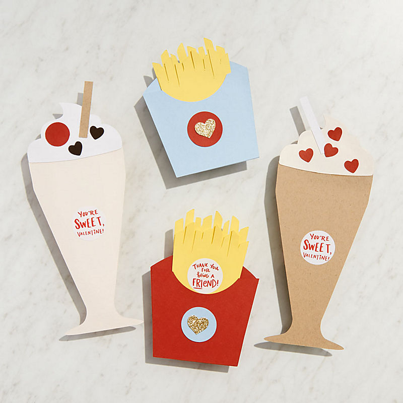 Milkshake and Fries Valentine's Day Craft Kits