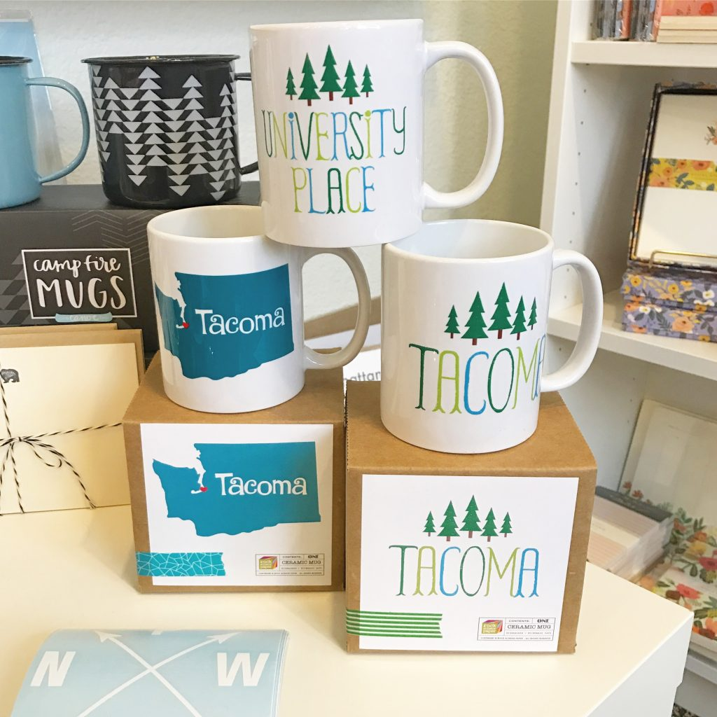 Tacoma Mugs and University Place Mugs