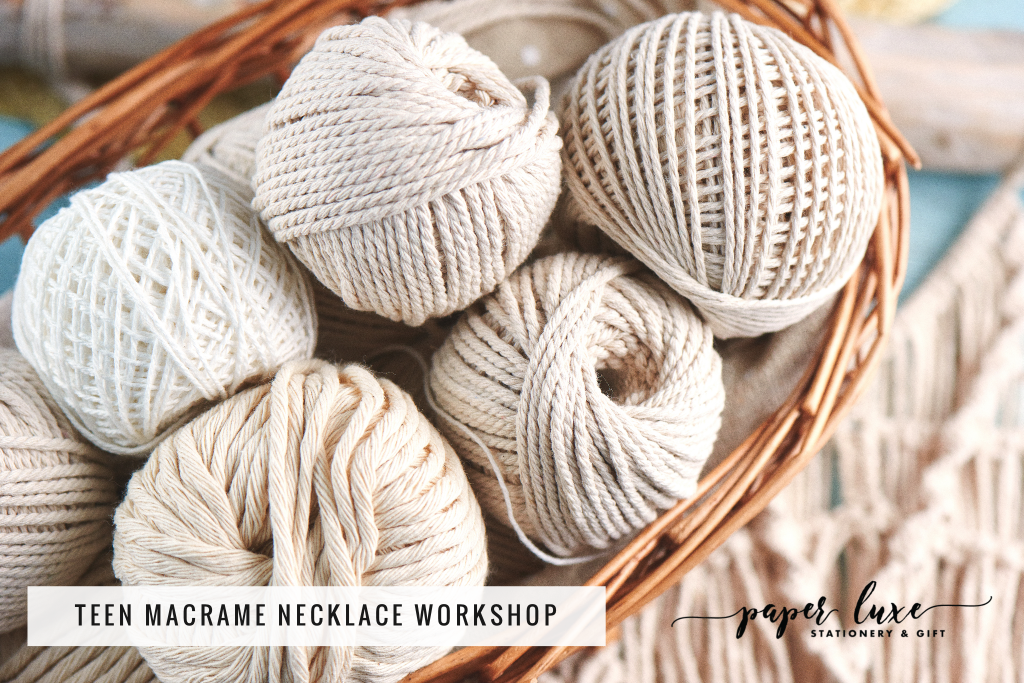 Teen Macrame Necklace Workshop