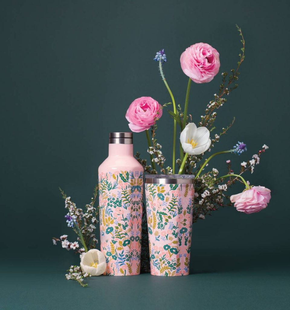 rifle paper co + corkcicle tumblers and canteens
