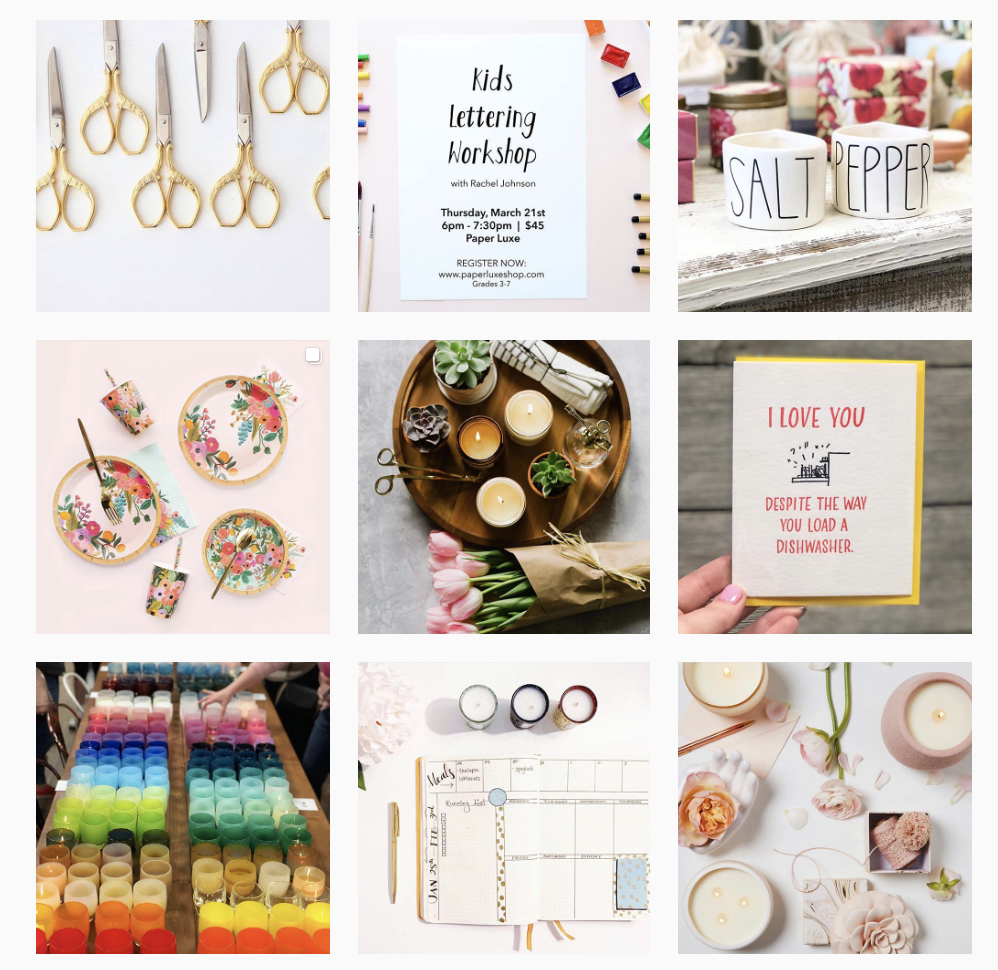 Paper Luxe Instagram Feed