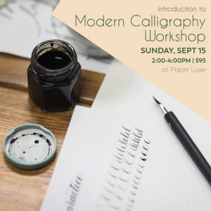 tacoma calligraphy workshop