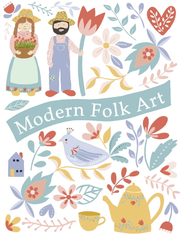 Modern Folk Art Workshop Tacoma