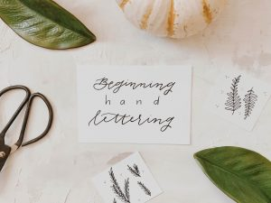 Beginning Hand Lettering Workshop Paper Luxe